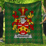 1sttheworld Premium Quilt - Kirkwood Irish Family Crest Quilt - Irish National Tartan A7