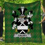 1sttheworld Premium Quilt - Calvey Or Mcelwee Irish Family Crest Quilt - Irish National Tartan A7