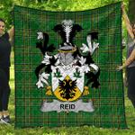 1sttheworld Premium Quilt - Reid Irish Family Crest Quilt - Irish National Tartan A7