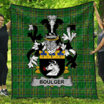 1sttheworld Premium Quilt - Boulger Or O'Bolger Irish Family Crest Quilt - Irish National Tartan A7