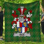 1sttheworld Premium Quilt - Rice Irish Family Crest Quilt - Irish National Tartan A7
