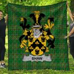 1sttheworld Premium Quilt - Shaw Irish Family Crest Quilt - Irish National Tartan A7