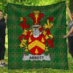 1sttheworld Premium Quilt - Abbott Irish Family Crest Quilt - Irish National Tartan A7