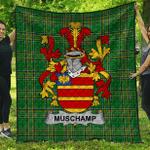 1sttheworld Premium Quilt - Muschamp Irish Family Crest Quilt - Irish National Tartan A7