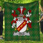 1sttheworld Premium Quilt - Veile Or Veale Irish Family Crest Quilt - Irish National Tartan A7