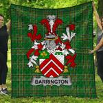1sttheworld Premium Quilt - Barrington Irish Family Crest Quilt - Irish National Tartan A7