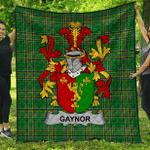 1sttheworld Premium Quilt - Gaynor Or Mcgaynor Irish Family Crest Quilt - Irish National Tartan A7