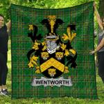 1sttheworld Premium Quilt - Wentworth Irish Family Crest Quilt - Irish National Tartan A7