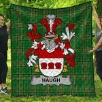 1sttheworld Premium Quilt - Haugh Or O'Hough Irish Family Crest Quilt - Irish National Tartan A7