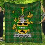 1sttheworld Premium Quilt - Mcsweeney Irish Family Crest Quilt - Irish National Tartan A7