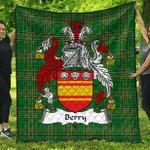 1sttheworld Premium Quilt - Berry Irish Family Crest Quilt - Irish National Tartan A7