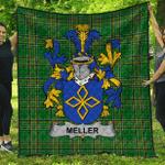 1sttheworld Premium Quilt - Meller Irish Family Crest Quilt - Irish National Tartan A7