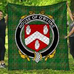 1sttheworld Premium Quilt - House Of O'Byrne Irish Family Crest Quilt - Irish National Tartan A7