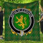 1sttheworld Premium Quilt - House Of O'Connor (Kerry) Irish Family Crest Quilt - Irish National Tartan A7