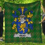 1sttheworld Premium Quilt - Read Irish Family Crest Quilt - Irish National Tartan A7