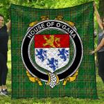 1sttheworld Premium Quilt - House Of O'Gara Irish Family Crest Quilt - Irish National Tartan A7