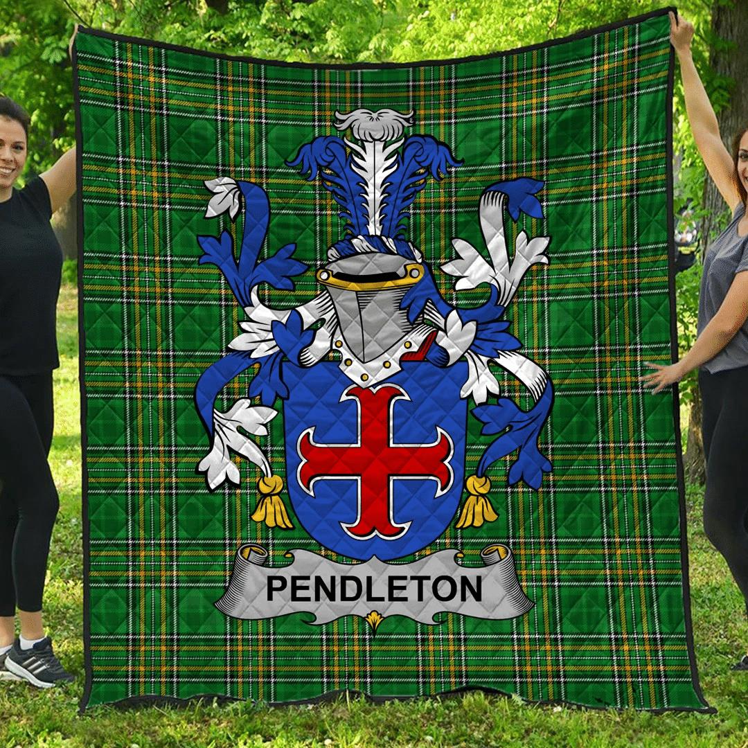 1sttheworld Premium Quilt - Pendleton Irish Family Crest Quilt - Irish National Tartan A7