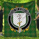 1sttheworld Premium Quilt - House Of O'Davoren Irish Family Crest Quilt - Irish National Tartan A7