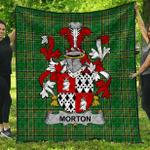 1sttheworld Premium Quilt - Morton Irish Family Crest Quilt - Irish National Tartan A7