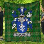 1sttheworld Premium Quilt - Mcdowell Irish Family Crest Quilt - Irish National Tartan A7
