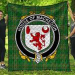 1sttheworld Premium Quilt - House Of Mackeogh Irish Family Crest Quilt - Irish National Tartan A7