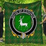 1sttheworld Premium Quilt - House Of O'Connor (Corcomroe) Irish Family Crest Quilt - Irish National Tartan A7