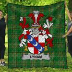 1sttheworld Premium Quilt - Lynam Or O'Lynam Irish Family Crest Quilt - Irish National Tartan A7