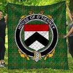 1sttheworld Premium Quilt - House Of O'Tierney Irish Family Crest Quilt - Irish National Tartan A7