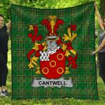 1sttheworld Premium Quilt - Cantwell Irish Family Crest Quilt - Irish National Tartan A7