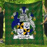 1sttheworld Premium Quilt - Campbell Irish Family Crest Quilt - Irish National Tartan A7