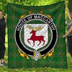 1sttheworld Premium Quilt - House Of Maccarthy Irish Family Crest Quilt - Irish National Tartan A7