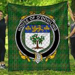 1sttheworld Premium Quilt - House Of O'Dowling Irish Family Crest Quilt - Irish National Tartan A7