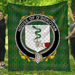 1sttheworld Premium Quilt - House Of O'Donovan Irish Family Crest Quilt - Irish National Tartan A7