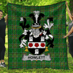 1sttheworld Premium Quilt - Howlett Or Hewlett Irish Family Crest Quilt - Irish National Tartan A7
