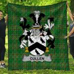 1sttheworld Premium Quilt - Cullen Or Mccullen Irish Family Crest Quilt - Irish National Tartan A7