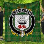 1sttheworld Premium Quilt - House Of O'Leary Irish Family Crest Quilt - Irish National Tartan A7