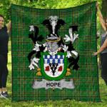 1sttheworld Premium Quilt - Hope Irish Family Crest Quilt - Irish National Tartan A7