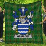 1sttheworld Premium Quilt - Westloke Or Westlock Irish Family Crest Quilt - Irish National Tartan A7