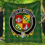 1sttheworld Premium Quilt - House Of Macegan Irish Family Crest Quilt - Irish National Tartan A7