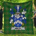 1sttheworld Premium Quilt - Smiley Or Smyly Irish Family Crest Quilt - Irish National Tartan A7