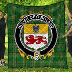 1sttheworld Premium Quilt - House Of O'Boland Irish Family Crest Quilt - Irish National Tartan A7