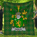 1sttheworld Premium Quilt - Paisley Irish Family Crest Quilt - Irish National Tartan A7