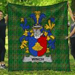 1sttheworld Premium Quilt - Winch Irish Family Crest Quilt - Irish National Tartan A7