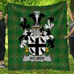 1sttheworld Premium Quilt - Aylmer Irish Family Crest Quilt - Irish National Tartan A7