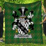 1sttheworld Premium Quilt - Carolan Irish Family Crest Quilt - Irish National Tartan A7