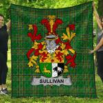 1sttheworld Premium Quilt - Sullivan Or O'Sullivan (Beare) Irish Family Crest Quilt - Irish National Tartan A7