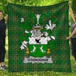 1sttheworld Premium Quilt - O'Donoghue Irish Family Crest Quilt - Irish National Tartan A7