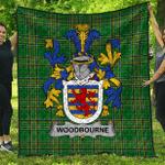 1sttheworld Premium Quilt - Woodbourne Irish Family Crest Quilt - Irish National Tartan A7