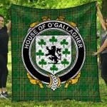 1sttheworld Premium Quilt - House Of O'Gallagher Irish Family Crest Quilt - Irish National Tartan A7