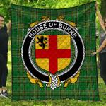 1sttheworld Premium Quilt - House Of Burke Irish Family Crest Quilt - Irish National Tartan A7
